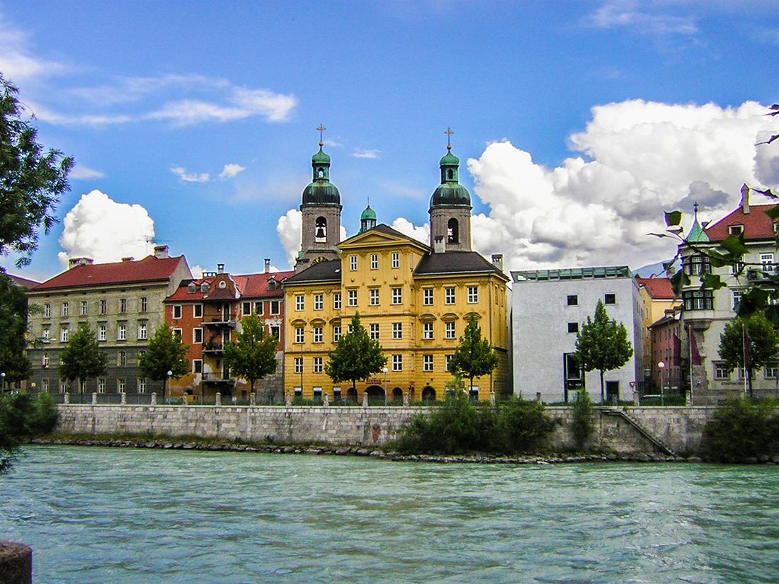 Innsbruck - Inn con veduta sulla citta