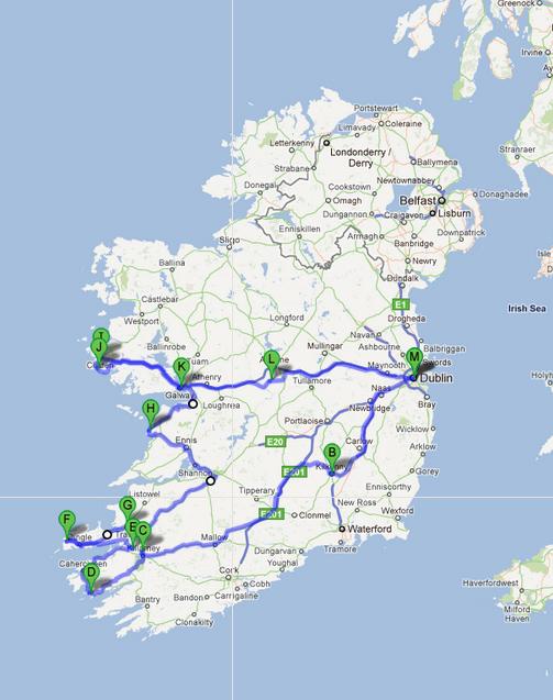Itinerario sud-ovest irlanda