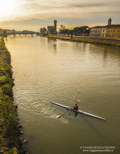 Pisa - Lungarno al tramonto